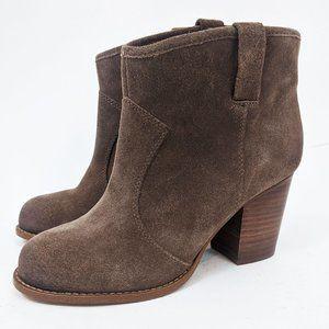 Splendid Suede Leather Ankle Booties 7.5 Brown